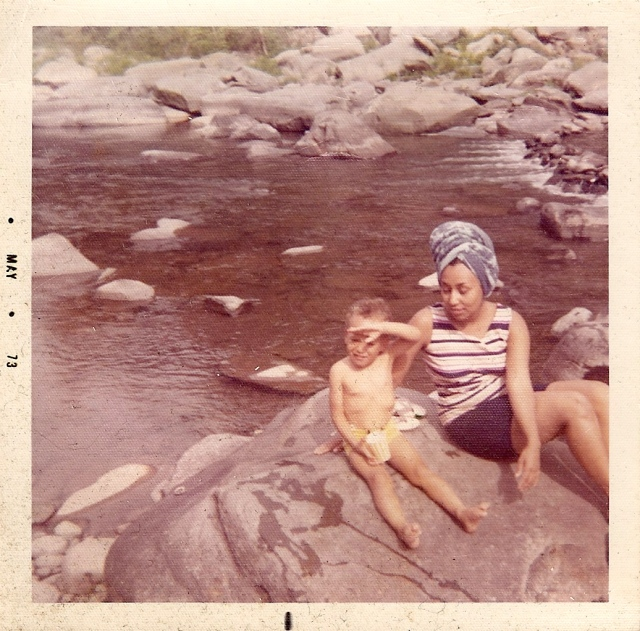 Me & Mom May 1973 Upstate New York Catskill Mountains