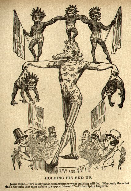 1899 Racist Imperialist Balance Cartoon