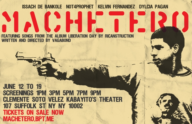 TICKETS FOR MACHETERO SCREENING NYC JUNE 12 -19 http://machetero.bpt.me