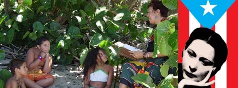 Dylcia Pagan reads Julia de Burgos in a scene from MACHETERO